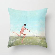 spaziergang mit ego Throw Pillow