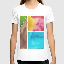 180811 Watercolor Block Swatches 10| Colorful Abstract |Geometrical Art T-shirt