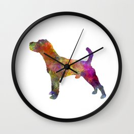 Jack Russell Terrier 01 in watercolor -3 Wall Clock