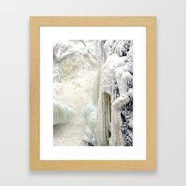 Long braid of Winter Sister Framed Art Print