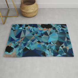 dark blue elegant sparkling geometric crystals Rug