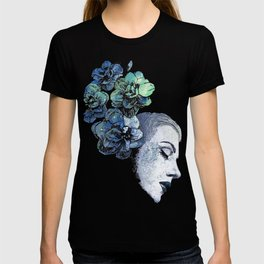 Obey Me: Blue (graffiti flower woman portrait) T-shirt