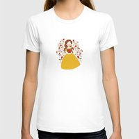 bookworm T-shirts featuring Rumbelle - Belle bookworm by lolia