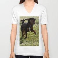 leaf V-neck T-shirts featuring Leaf!  by IowaShots