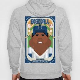 Baseball Blue Pinstripes - Rhubarb Pitchbatter - Hayes version Hoody