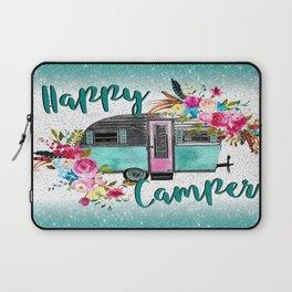 Happy Camper Flowers Laptop Sleeve