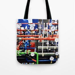 Piping with manometers for industry Tote Bag