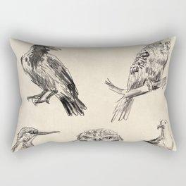 Bird vintage sketches 2 Rectangular Pillow