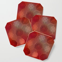 Distorted Flaming Mandala Pattern Coaster
