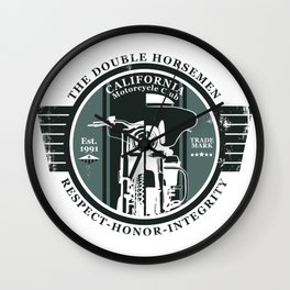 California Motorcycle Club Wall Clock