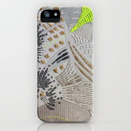 Oh! Embroidered 2 iPhone Case