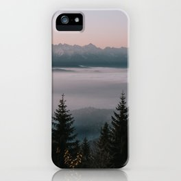 Faraway Mountains - Landscape and Nature Photography iPhone Case