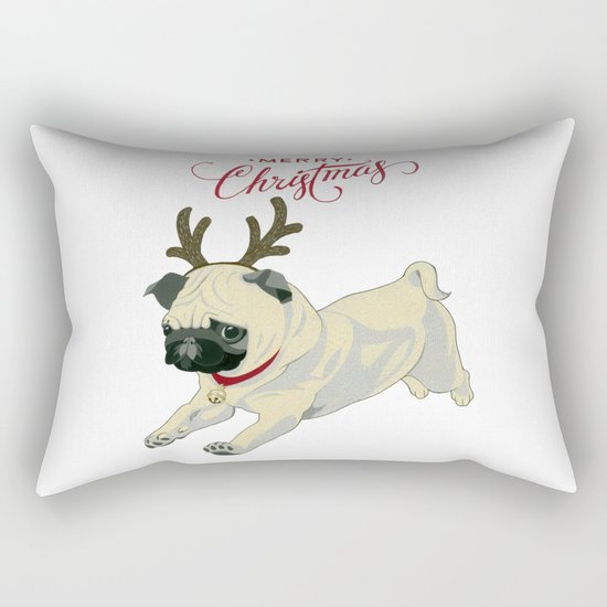 Deer Pug Rectangular Pillow