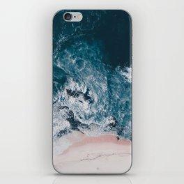 I love the sea - written on the beach iPhone Skin