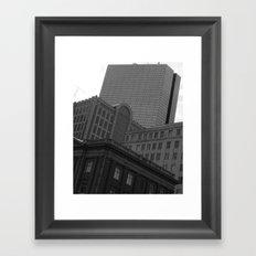 Architecture of Back Bay Framed Art Print