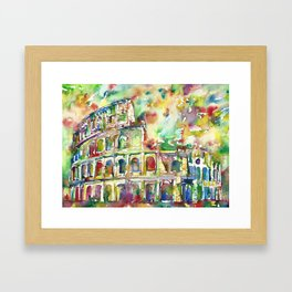 COLOSSEUM - watercolor painting Framed Art Print
