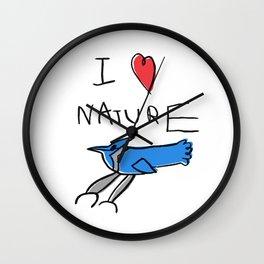 I Heart Nature Wall Clock