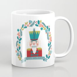 Nutcracker Christmas Floral Coffee Mug