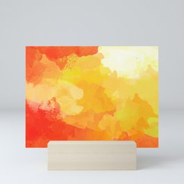 Colorful Abstract - red orange pattern Mini Art Print