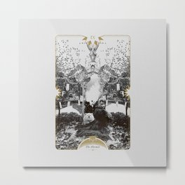 IX. The Hermit Metal Print