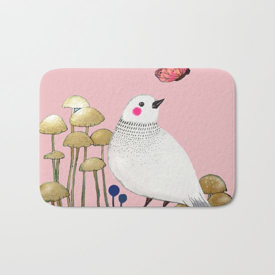 pink wall Bath Mat