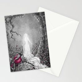 The lady of winter Stationery Cards
