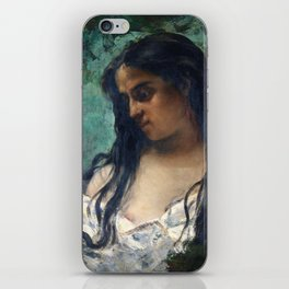 Gustave Courbet - Gypsy in Reflection iPhone Skin