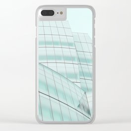Urban Turquoise Architecture Clear iPhone Case