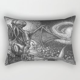 They Had Come From The Stars (...and had brought Their images with Them) Rectangular Pillow