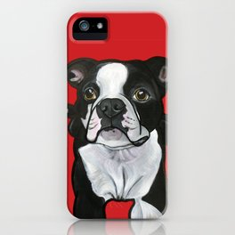 Bobo the Boston terrier iPhone Case