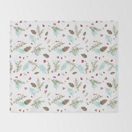 Pinecones and Berries Throw Blanket
