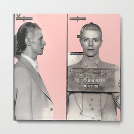 PINKY BOWIE ARRESTED Metal Print