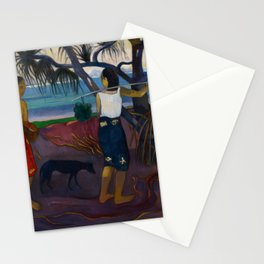Paul Gauguin - I Raro Te Oviri (Under the Pandanus) (1891) Stationery Cards