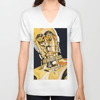 c3po V-neck T-shirts featuring C3PO by Laura-A
