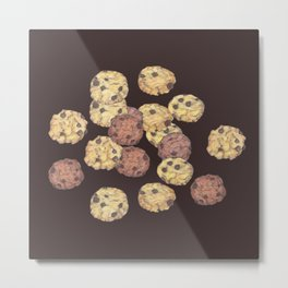 cookies pattern_brown Metal Print