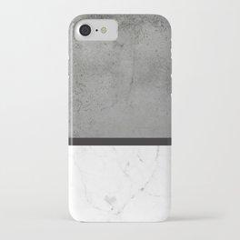 Black Marble Concrete Fusion iPhone Case