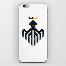 Octopus Rex Logo in Black iPhone & iPod Skin