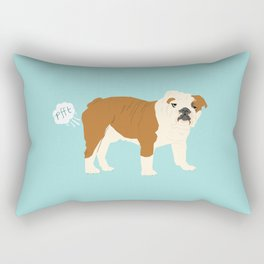 english bulldog funny farting dog breed gifts Rectangular Pillow