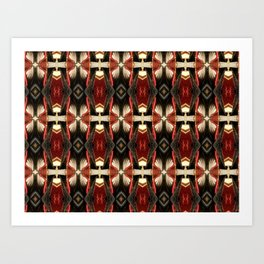 Rich Burgundy Striped Pattern A448b Art Print