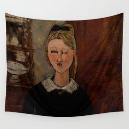 "Amedeo Modigliani ""The Pretty Housewife (La Jolie ménagère)"" Wall Tapestry"