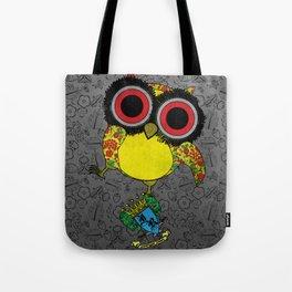 Printed Owl Tote Bag