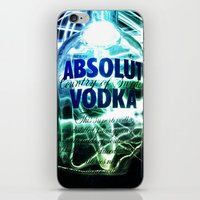 vodka iPhone & iPod Skins featuring Absolut Vodka by Rothko
