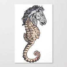 evil horse Canvas Print