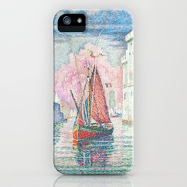 The Port Of La Rochelle, Paul Signac, 1921 iPhone Case