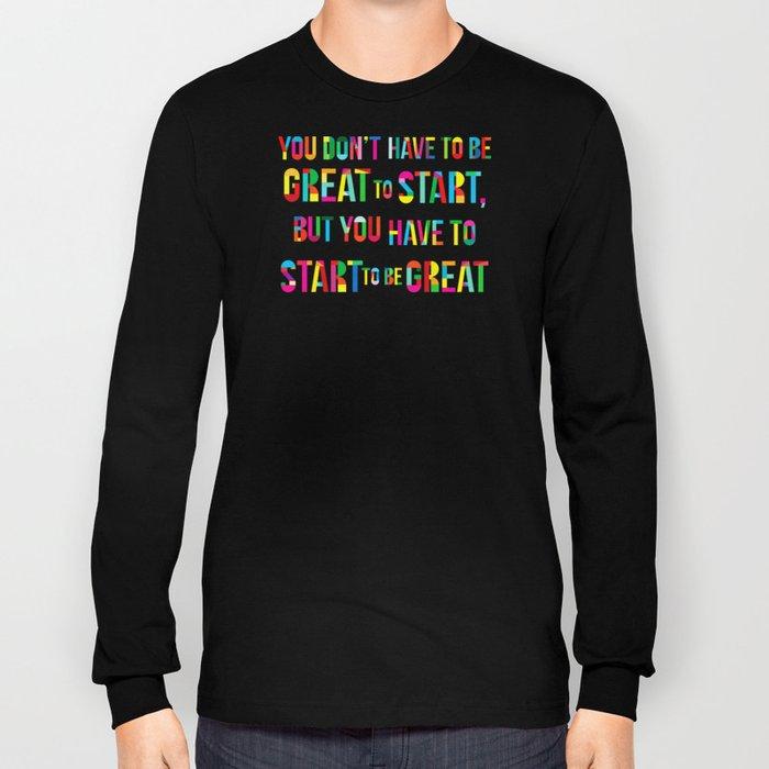 Start! Long Sleeve T-shirt