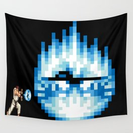 Ryu Hadouken Fireball Wall Tapestry