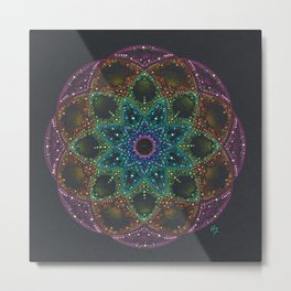 Bright colorful Mandala Metal Print