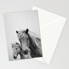 Horses - Black & White Stationery Cards