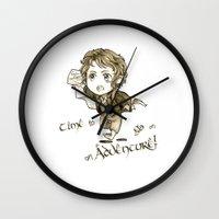 chibi Wall Clocks featuring Chibi Bilbo by KuroCyou