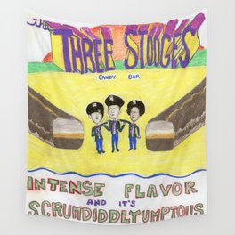 three stooges candy bar Wall Tapestry